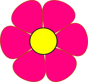 Pink And Yellow Flower Clip Art