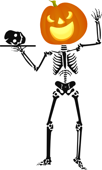 Halloween Skeleton Clip Art at Clker.com - vector clip art ...