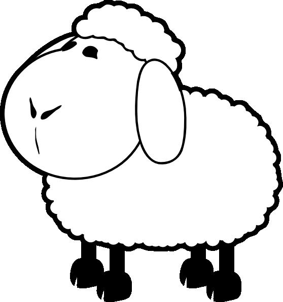 Sheep Outline Clip Art at Clker.com - vector clip art ...