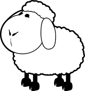 Clipart Bwsheep on black and white deer head
