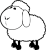 Sheep Outline Clip Art