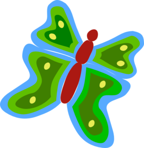 Blue And Green Butterfly Clip Art