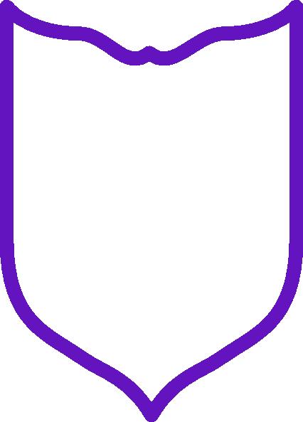 purple shield simple clip art at clker com
