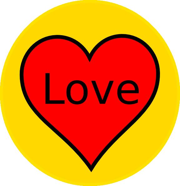 clip art yellow heart - photo #38