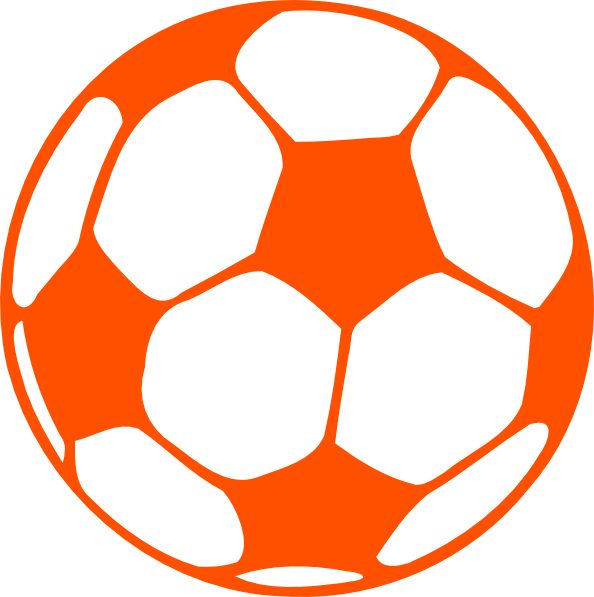 Click for 24 more beach coloring pages - Orange Soccer Ball Clip Art At Clker Com Vector Clip Art