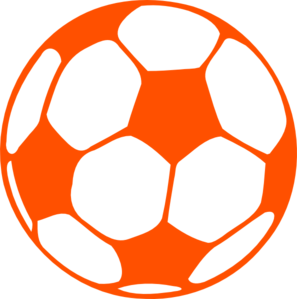 Orange Soccer Ball Clip Art