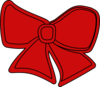 Bow Red Clip Art