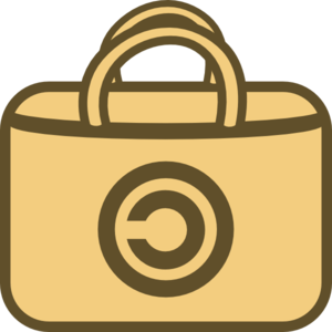 Shopping Bag With Copyright Clip Art