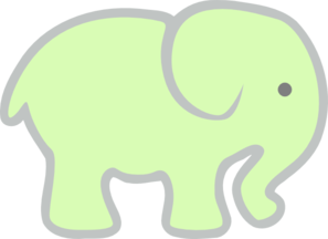 Light Green Elephant Clip Art