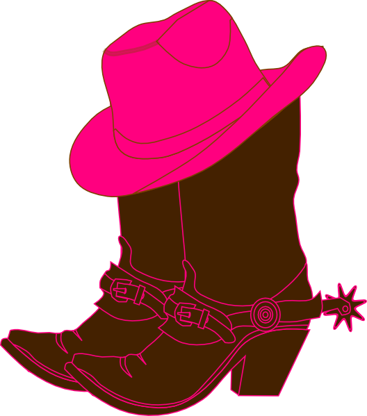 cowgirl boots clip art at clker com vector clip art Horseshoe Clip Art Black and White Rustic Horseshoe Clip Art