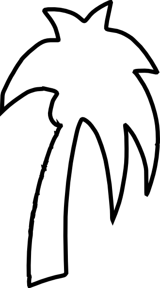 Palm tree leaf outline