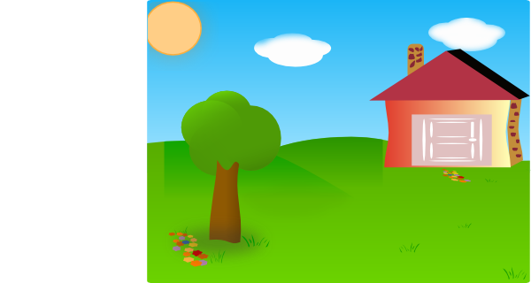 Backyard With House Moved Clip Art at Clker.com - vector ...