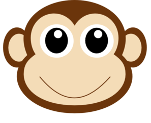 Monkey 1 Clip Art at Clker.com - vector clip art online, royalty free ...
