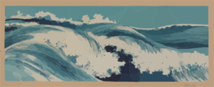 High Waves Clip Art