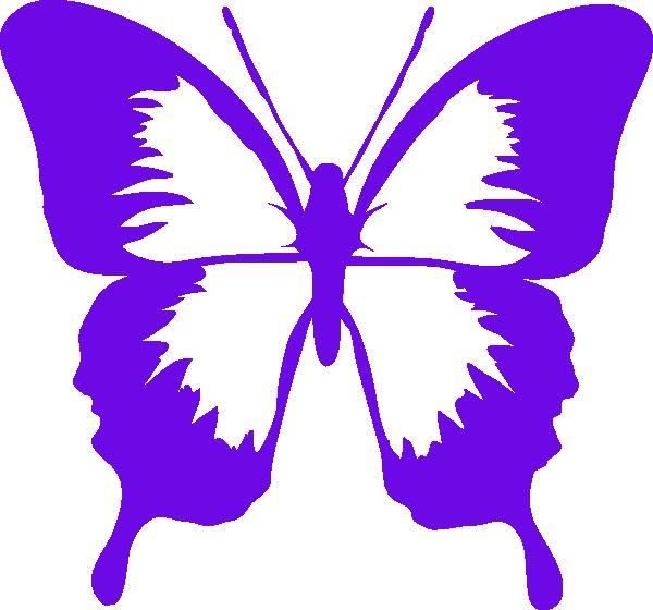 Purple Butterfly Scroll Clip Art At Clker Com: Purple Butterfly Clipart Clip Art At Clker.com