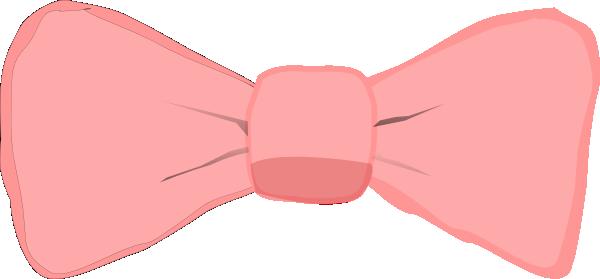 Pink Bow Clip Art At Clker Com Vector Clip Art Online