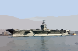The Aircraft Carrier Uss Carl Vinson (cvn 70) Departs San Diego Harbor For The Return Trip To Her Homeport Of Bremerton, Washington Clip Art