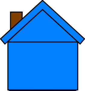 Blue Houseedit Clip Art