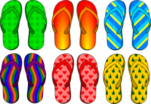 Colorful Flip Flops Clip Art