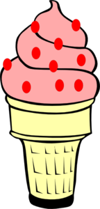Strawberry Ice Cream Cone Clip Art
