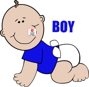 Baby Boy On Floor Crawling Clip Art