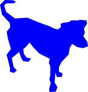 dog blue clip art at clker com vector clip art online royalty rh clker com Orange Cat Clip Art Yellow Dog Clip Art