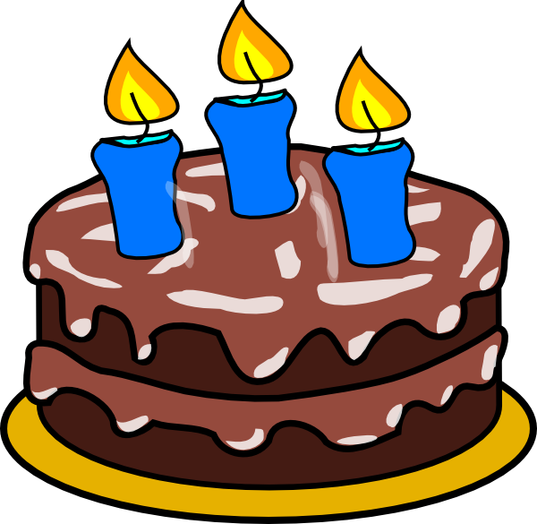 Cake With 3 Candles Clip Art At Clker Vector Clip Art Online
