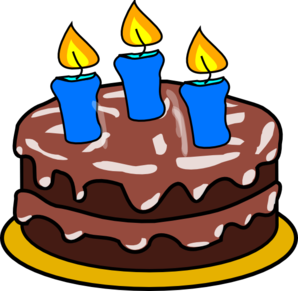 Cake With 3 Candles Clip Art