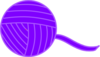 Purple Ball Of Yarn Clip Art