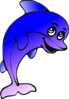 Dolphin Comic Character Clip Art