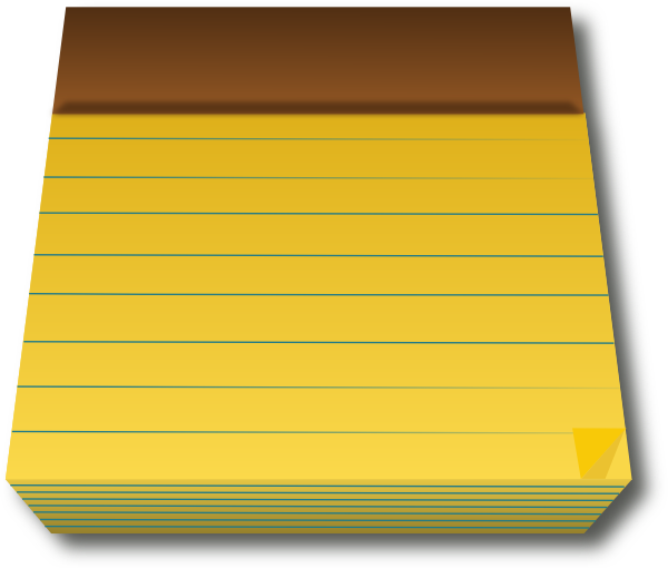 Yellow notepad clipart