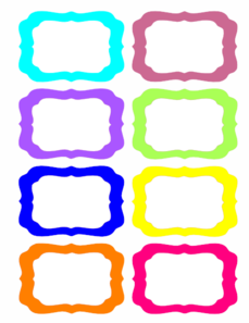 Colorful Tags Clip Art