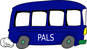 Blue Pals Bus Green Bumper Clip Art