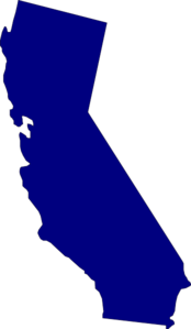 California cali. Blue clip art at