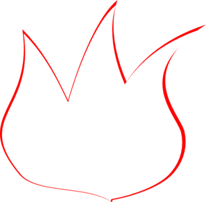 Flame Outline Clip Art