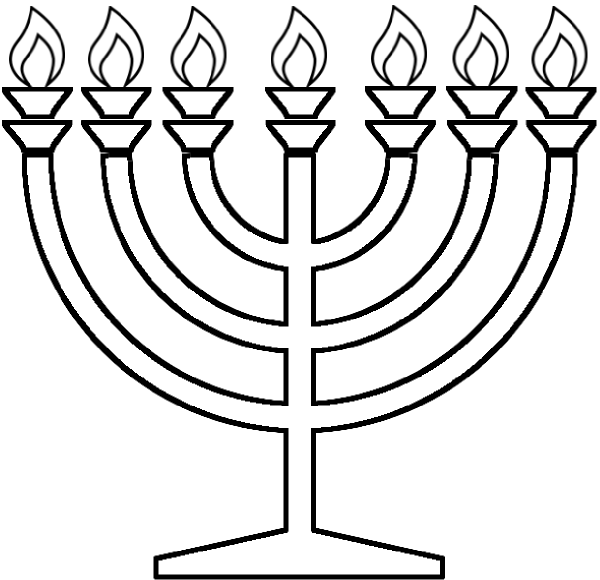 hanukkah symbols coloring pages - photo#24