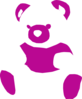 Pink And White Bear Clip Art