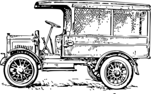 Old Truck White Background Clip Art
