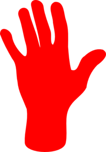 Red Palm Hand Clip Art