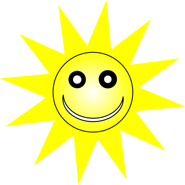 Smiley Happy Yellow Sun