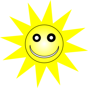 Smiley Happy Yellow Sun Clip Art