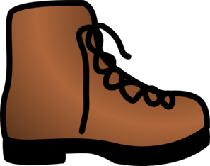 Simple Brown Boot Clip Art