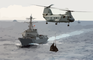 A Ch-46d Sea Knight Assigned To The  Clip Art