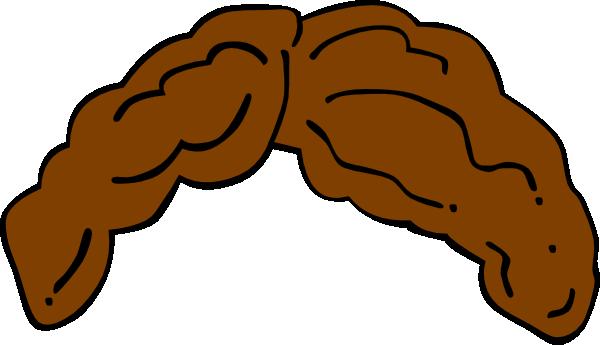 brown hair wig clip art at clkercom vector clip art