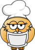Bird Chef Clip Art