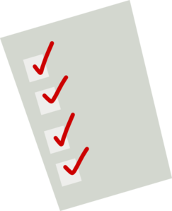 Cartoon Checklist Clip Art