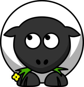 Sheep Looking Left-up Clip Art