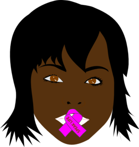 Speak Life Dark Brown Woman Clip Art