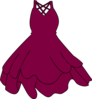 Maroon Wedding Dress  Clip Art