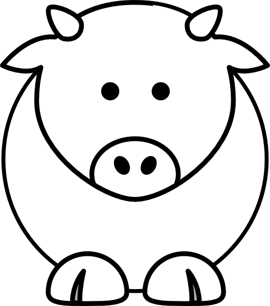 cow clipart simple - photo #5